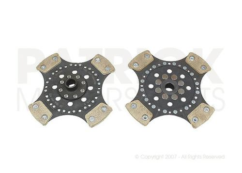 CLUTCH DISC - RSR RIGID HUB WITH METALLIC 4 PUCK DISC