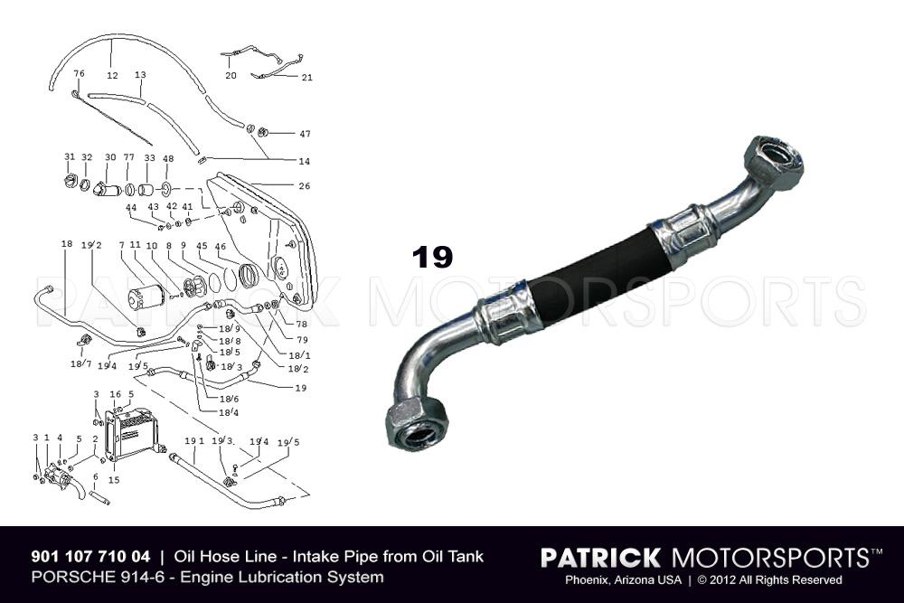 Oil Hose Line - Intake Pipe to 914-6 Oil Tank