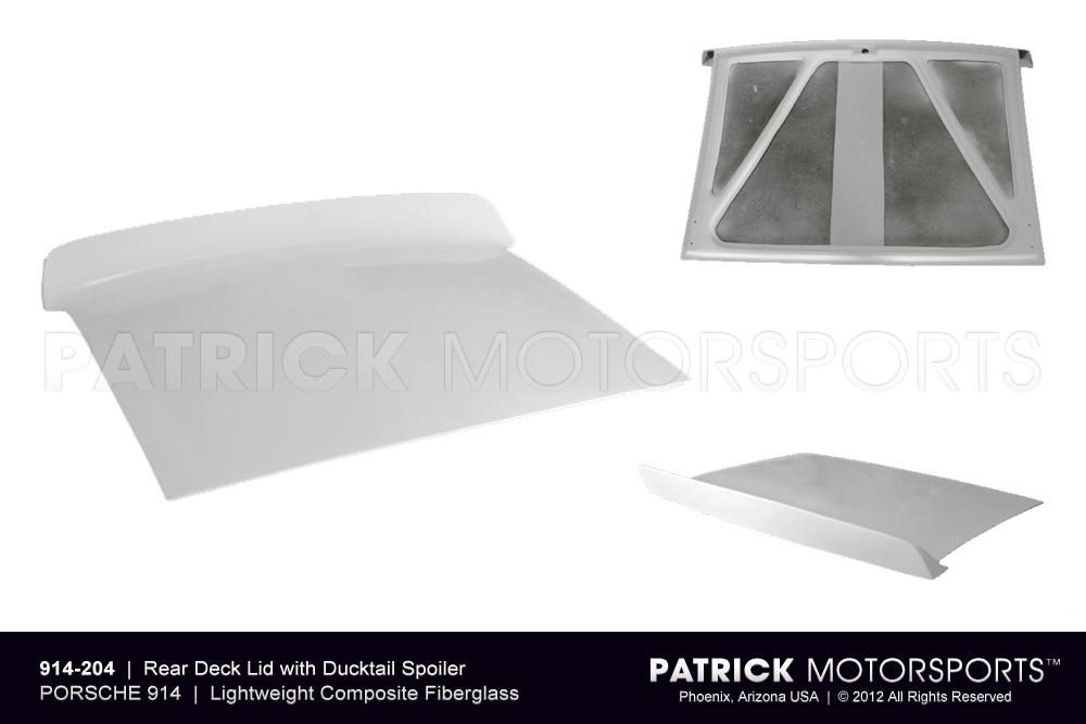 914 Rear Deck Lid Cover with Ducktail Spoiler