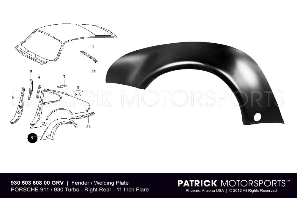 Fender Flare / Welding Plate - Rear Right - 911 / 930 Turbo