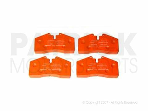 BRAKE PAD SET - FRONT / REAR - PAGID RACING ORANGE RS4-4 - PORSCHE 911 CARRERA / 993