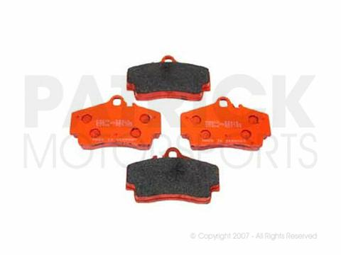 BRAKE PAD SET - REAR - PAGID RACING ORANGE RS4-4 - PORSCHE 986 BOXSTER / S THRU-'04 - CAYMAN / 996 CARRERA / S