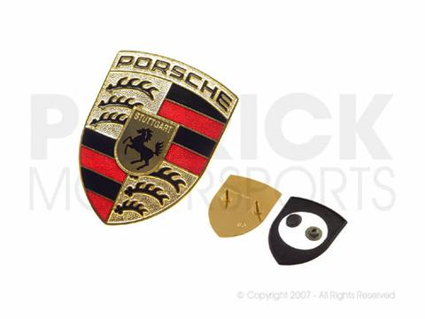 Porsche Hood Emblem Crest Kit - Gold Type