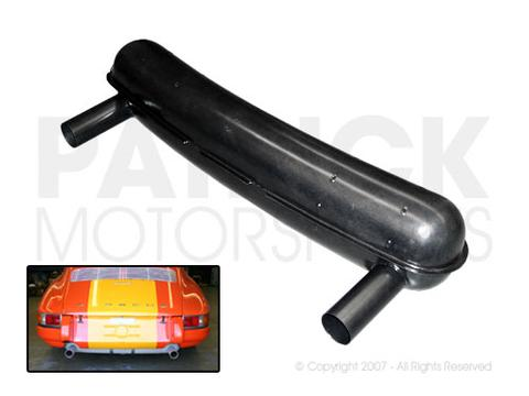 Sport Exhaust Silencer Muffler Wide - PORSCHE 911 RSR Style