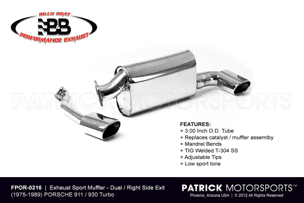 930 Exhaust Muffler 911 930 Turbo - Right Side Out