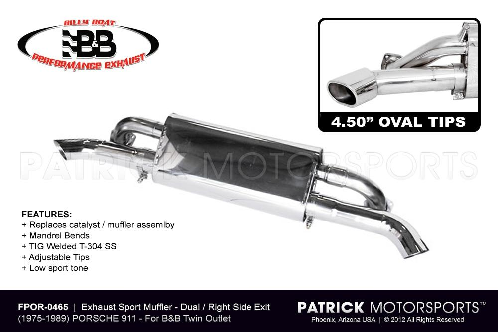 911 Exhaust Sport Muffler for B&B Twin Outlet