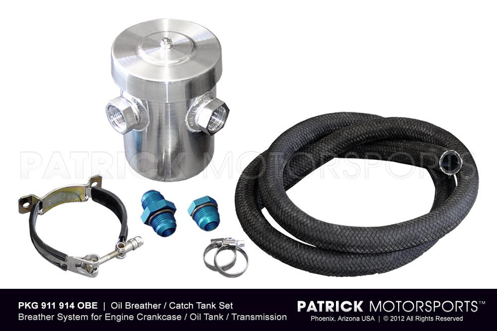 Oil Breather Catch Tank Set for Engine Crankcase & Transmission Ventilation