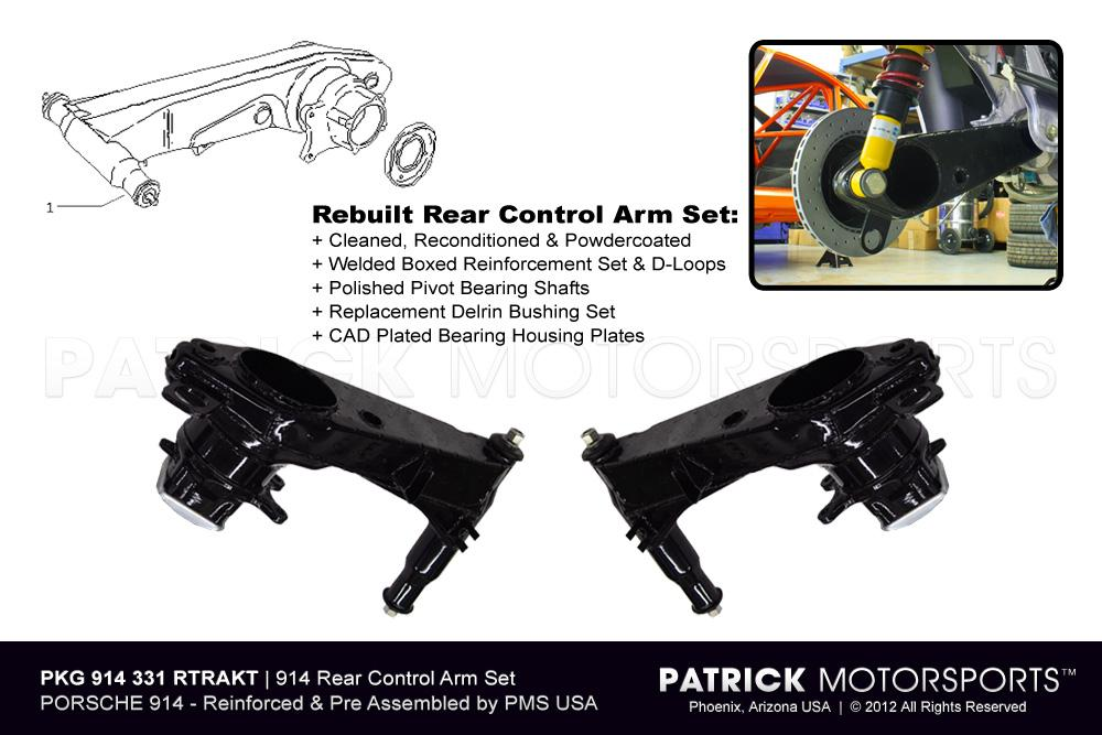 914 Rear Trailing Control Arm Set