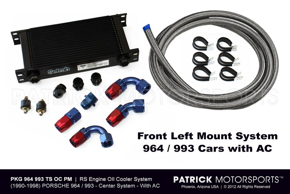 964 - 993 RS Engine Oil Cooler System - With AC