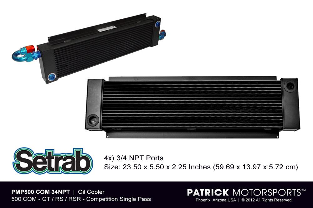 Front Mount Oil Cooler - 500 COM - GT  / RS / RSR - Competition Single Pass
