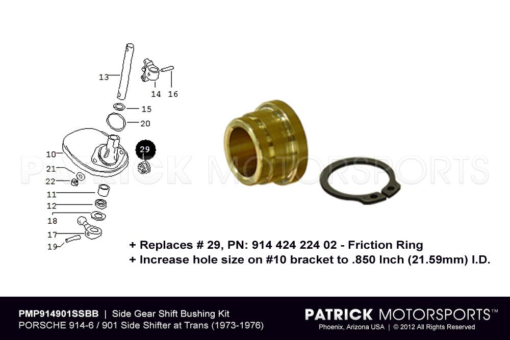 914 901 Side Gear Shift Bushing Kit