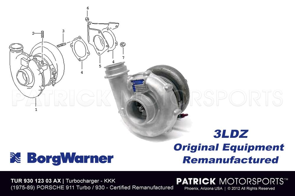 Turbocharger Borg Warner KKK 911 / 930 Turbo
