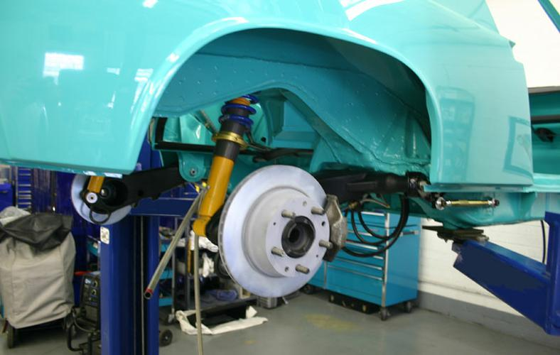 THE REAR CONVERSION STARTS WITH OUR REAR CONTROL ARM CONVERSION PACKAGE - SPORT / RACE - PORSCHE 914 - INCLUDES CERTIFIED RECONDITIONED SET WITH RECONDITION / POLISHED PIVOT SHAFTS, PLATED BEARING RETAINER PLATES, BOX REINFORCEMENT KITS, ADDED D-LOOPS AND FINISH POWDER COATED BLACK.DON'T TRUST YOU OLD STOCK FACTORY CONTROL ARM TO HANDLE THE ADDED HORSE POWER OF YOUR ENGINE CONVERSION. THEY WERE NOT DESIGNED FOR THAT AND WITH AGE WEAKEN. THEY RUST OUT FROM THE INSIDE AS THEY TRAP MOISTIRE WHEN THE DRAIN PASSAGES ARE PLUGED WITH DIRT OR DEBREE. DON'T FIND OUT THE HARD WAY THAT YOURS WERE WEAK. ALSO, NOW IS THE TIME TO ADD THE DELRIN BUSHINGS, PART#SUSRDCABUSH, NEW WHEEL BEARINGS PART # DRI 99905303500 AND 5 BOLT HUBS PART 3 DRI 91131106533 FOR YOUR WHEEL AND TIRE SWAP. ALSO THE REAR TOE ADJUSTING KIT 