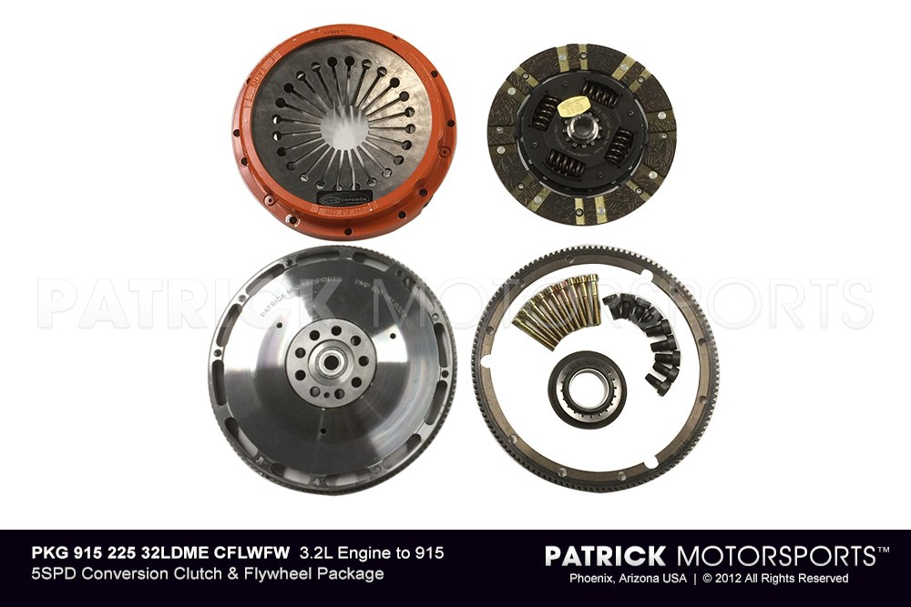 1984-86 3.2L DME 225MM to 915 5SPD CONVERSION CLUTCH & FLYWHEEL PKG