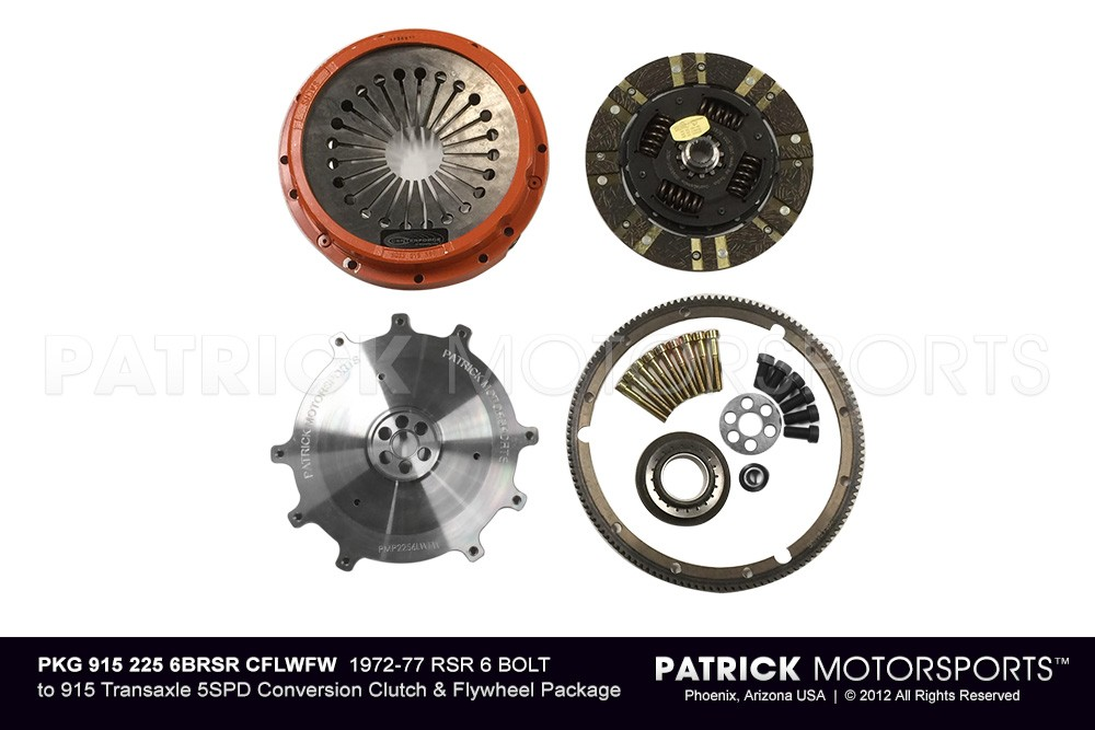 1972-77 6 bolt RSR 225MM TO 915 5SPD CONVERSION CLUTCH & FLYWHEEL PKG