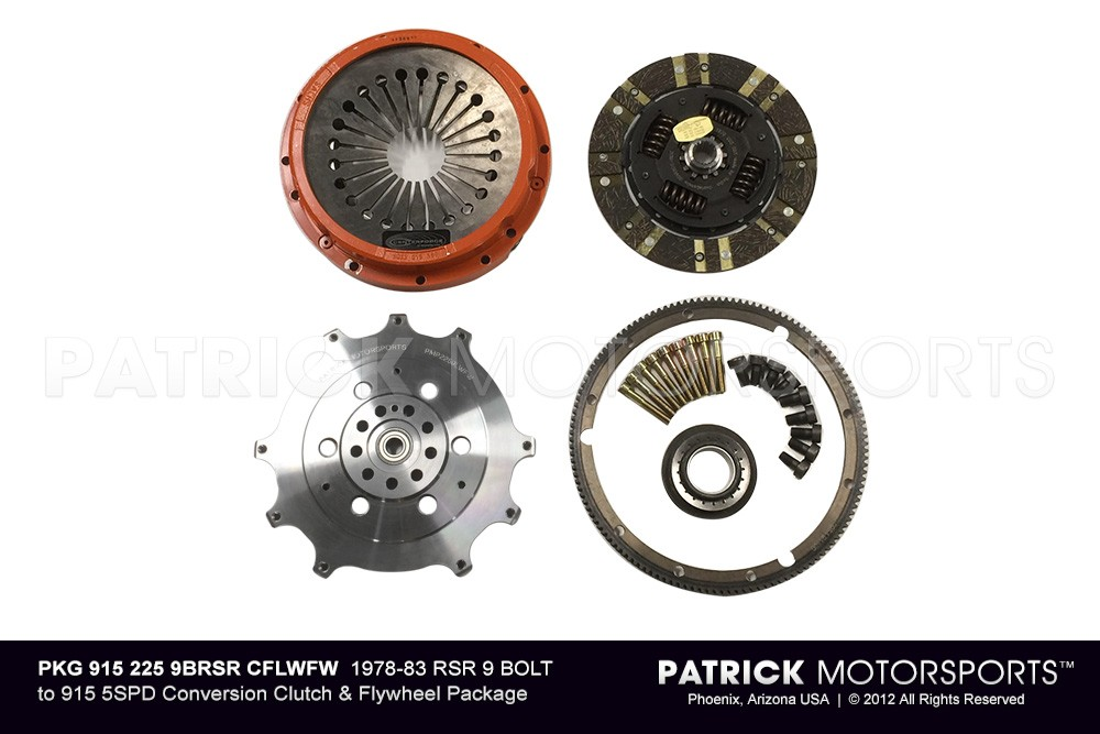 1978-83 9 BOLT RSR 225MM TO 915 5SPD CONVERSION CLUTCH & FLYWHEEL PKG