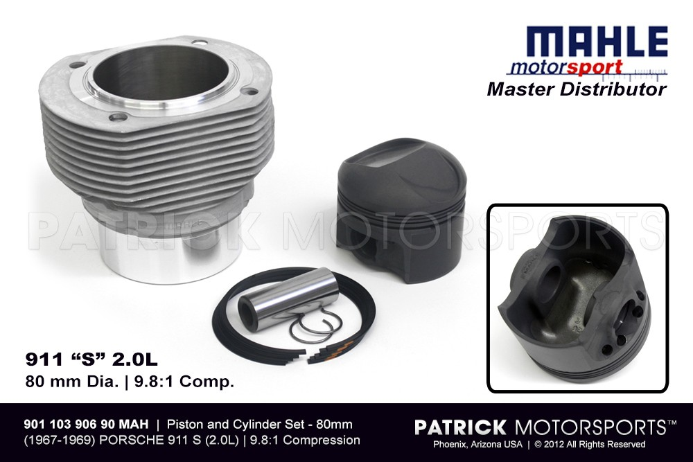 Mahle Piston & Cylinder Set - 2.0L 911 S 80mm
