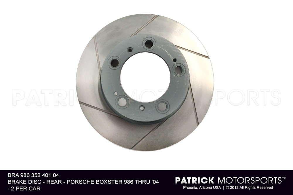 Brake Disc Rotor Rear Boxster