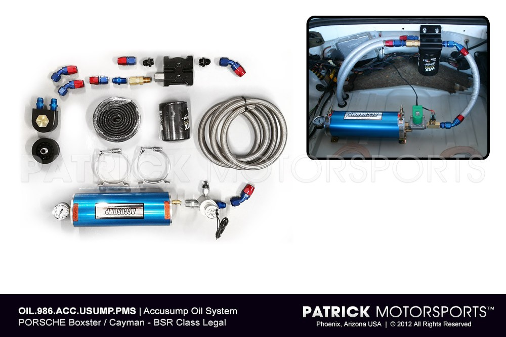 Accusump Engine Dry Sump Oil System - (1997-On) PORSCHE Boxster & Cayman - Sport / BSX / BSR / 986 Spec Racing
