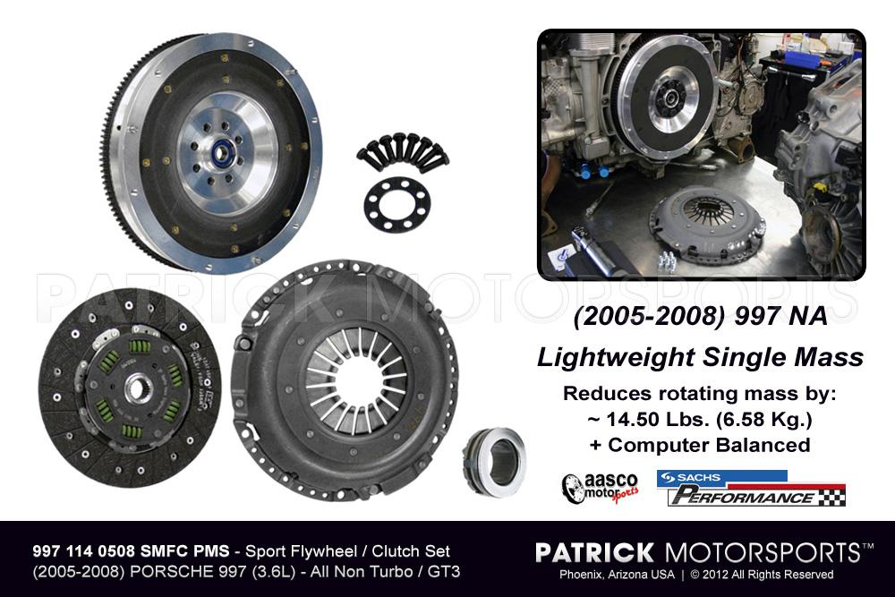 997 FLYWHEEL & CLUTCH PACKAGE - SPORT SINGLE MASS 997 CARRERA NA