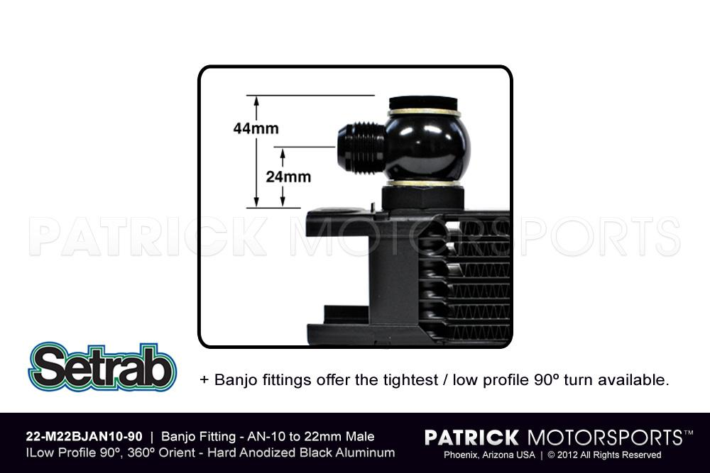 Banjo Fitting - AN-10 - Low Profile 90º