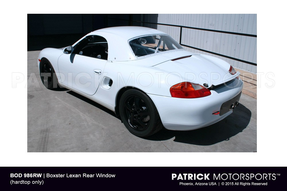 Boxster Lexan Rear Window