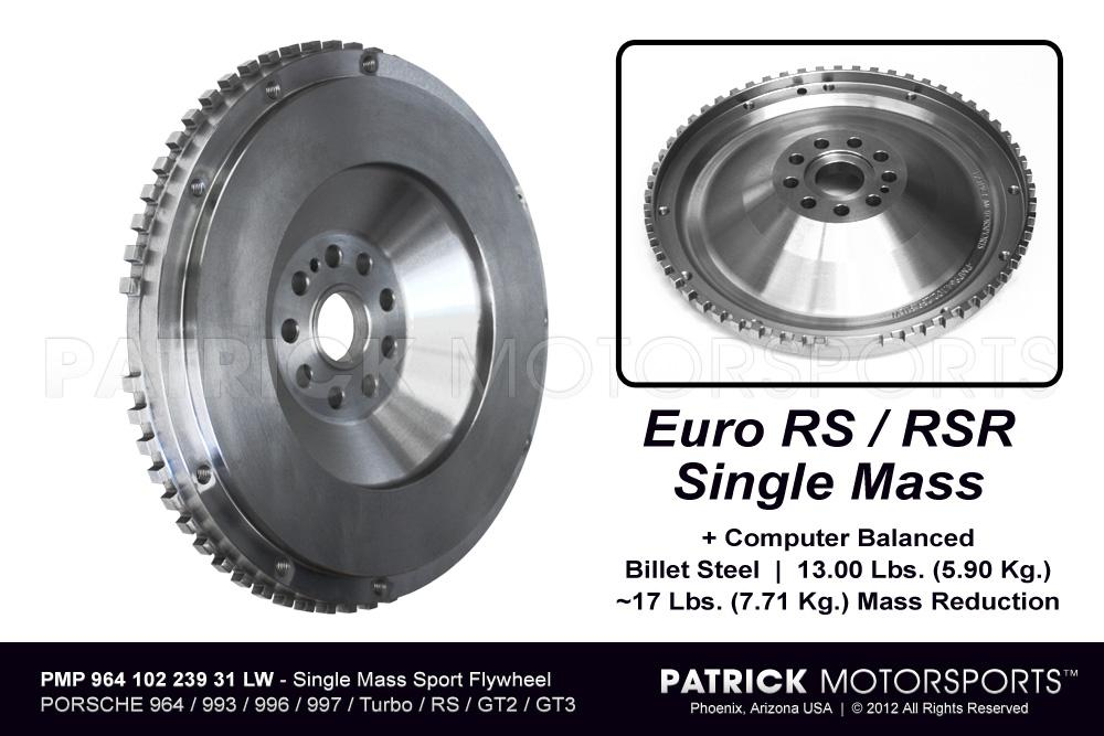 Single Mass Lightweight Flywheel PORSCHE 911 - 964 - 993 - 996 - 997 Turbo - Euro RS / RSR / GT3 / GT2