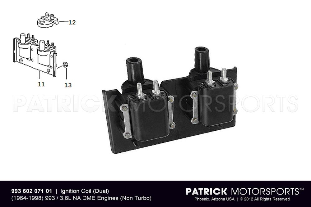 Ignition Coil Set (Dual) - (1994-1997) PORSCHE 993 Carrera 3.6L DME