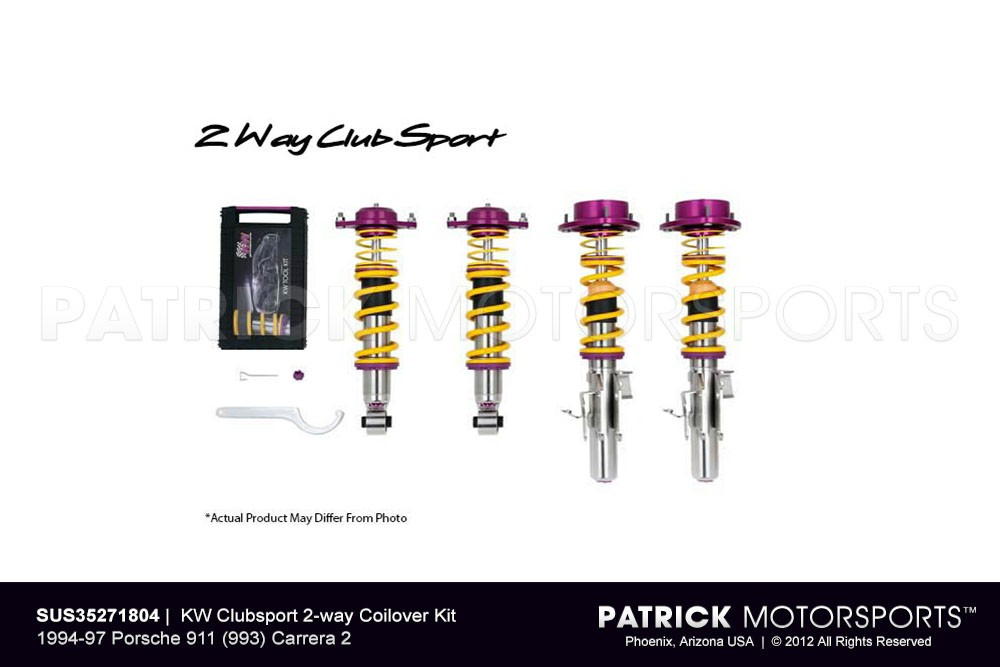 KW Clubsport 2-way Coilover Kit 1994-97 Porsche 911 (993) Carrera 2