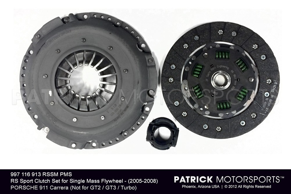RS Sport Clutch Set for Single Mass Flywheel - (2005-2008) PORSCHE 911 Carrera (Not for GT2 / GT3 / Turbo)