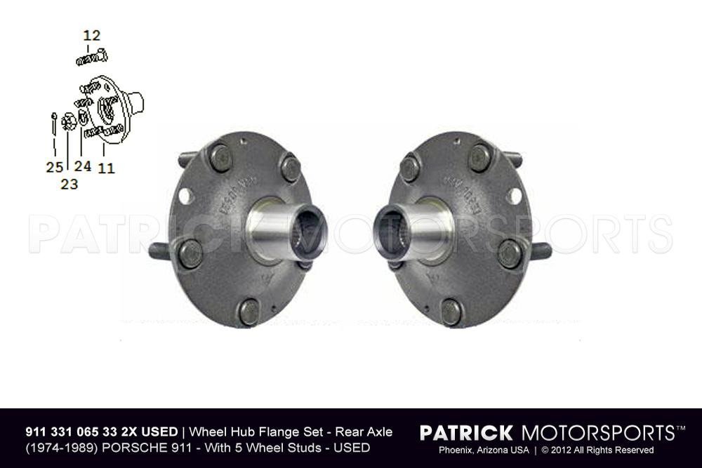 911 Rear Wheel Hub Flange Set Left / Right - Rear Axle Drive