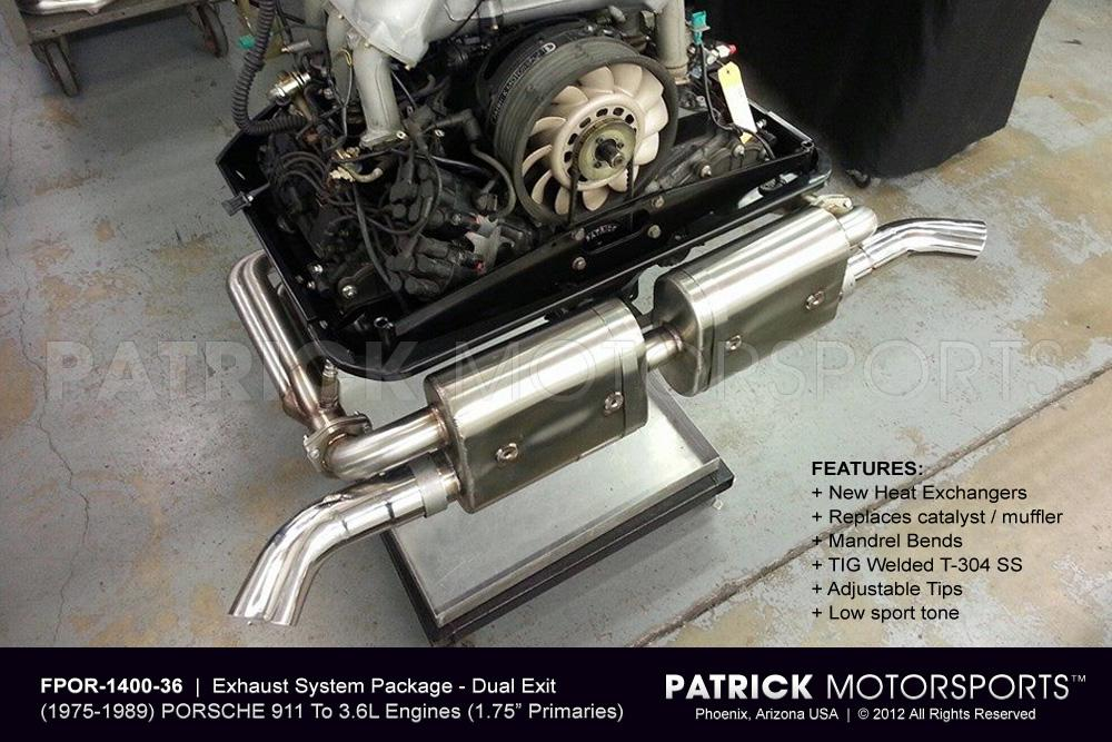 911 Exhaust System Package - 3.6L to (1975-1989) PORSCHE 911 SC / Carrera Chassis