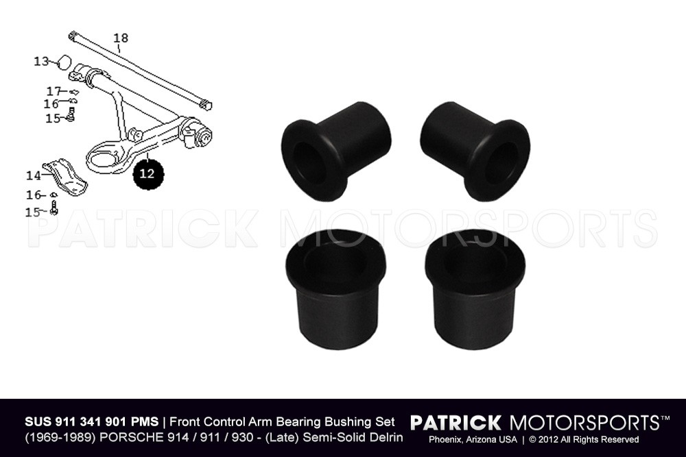Front Lower Control Arm Bearing Bushing Set - 911 / 914 / 930