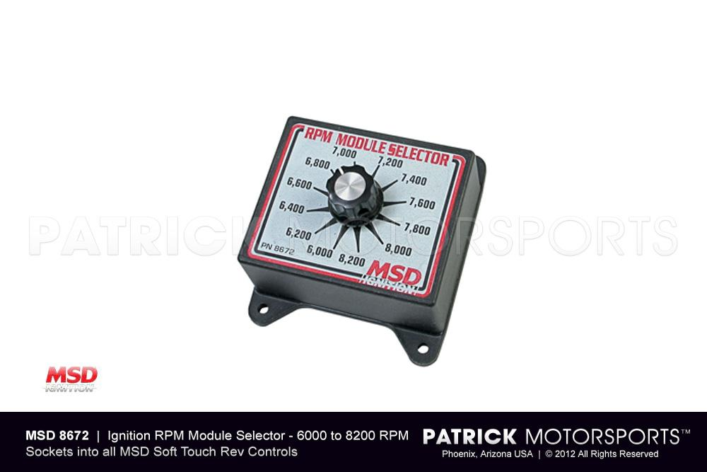 Ignition RPM Module Selector Switch - (6000-8200 RPM) MSD