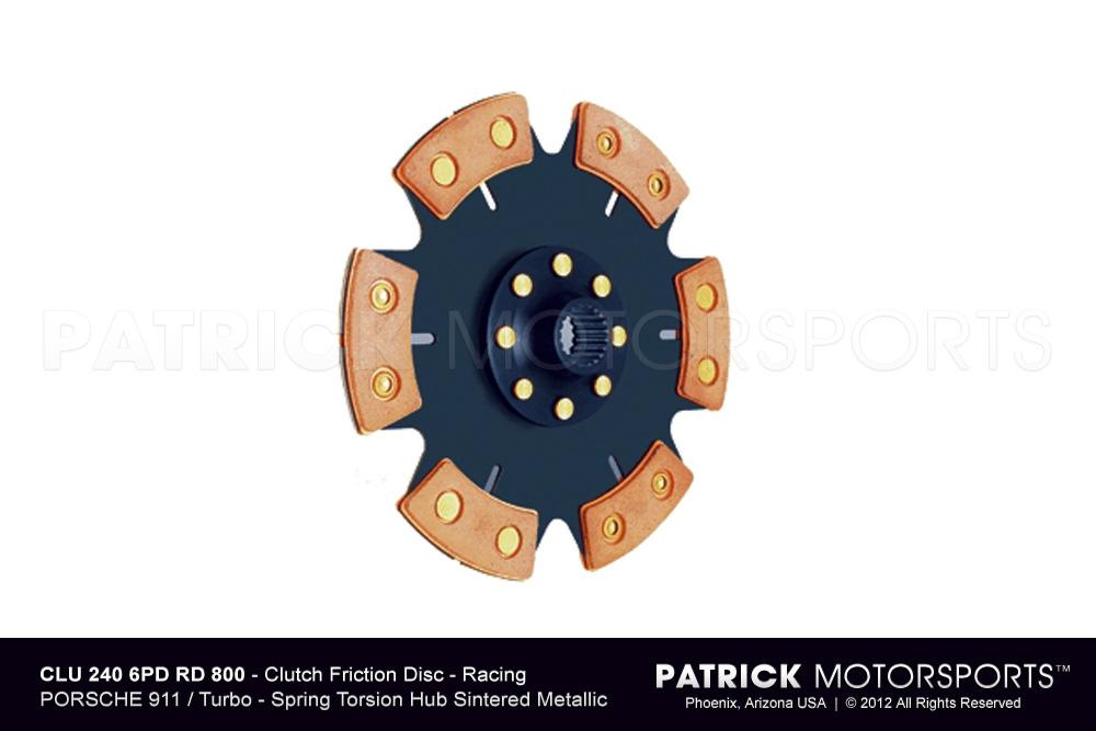 Clutch Friction Disc - 240mm Racing - Sintered Ceramic 6 Pad Button 800