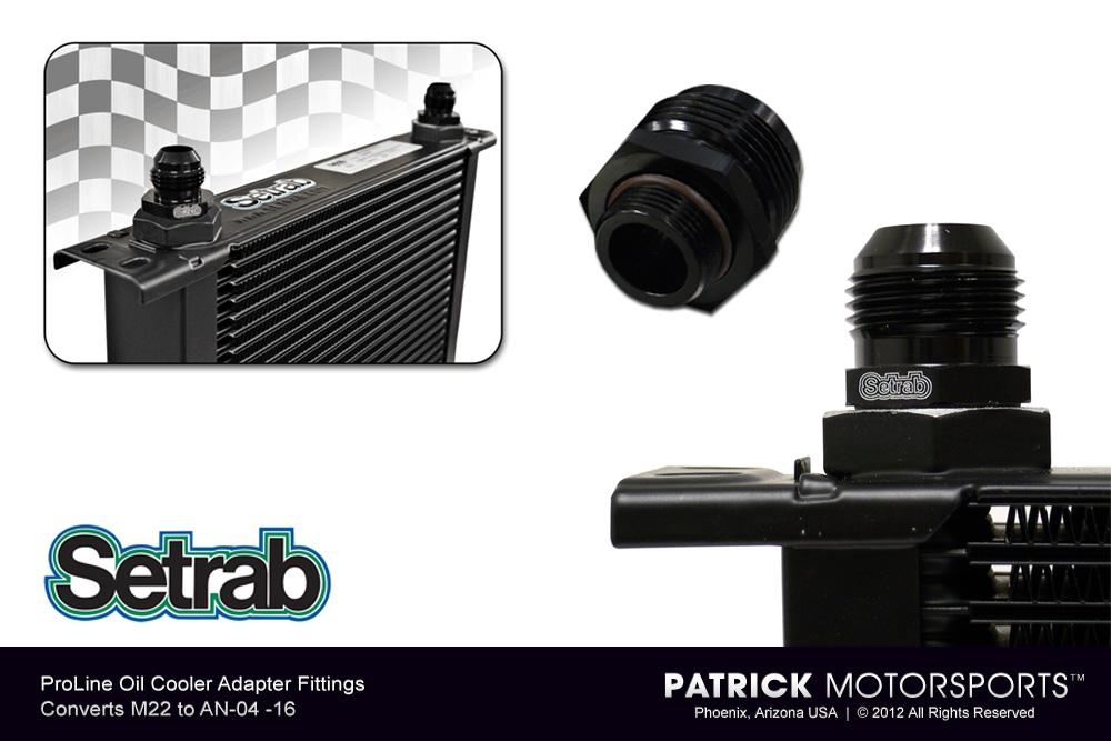 Adapter Fitting - (M22 to AN-06) - For Setrab ProLine Oil Coolers