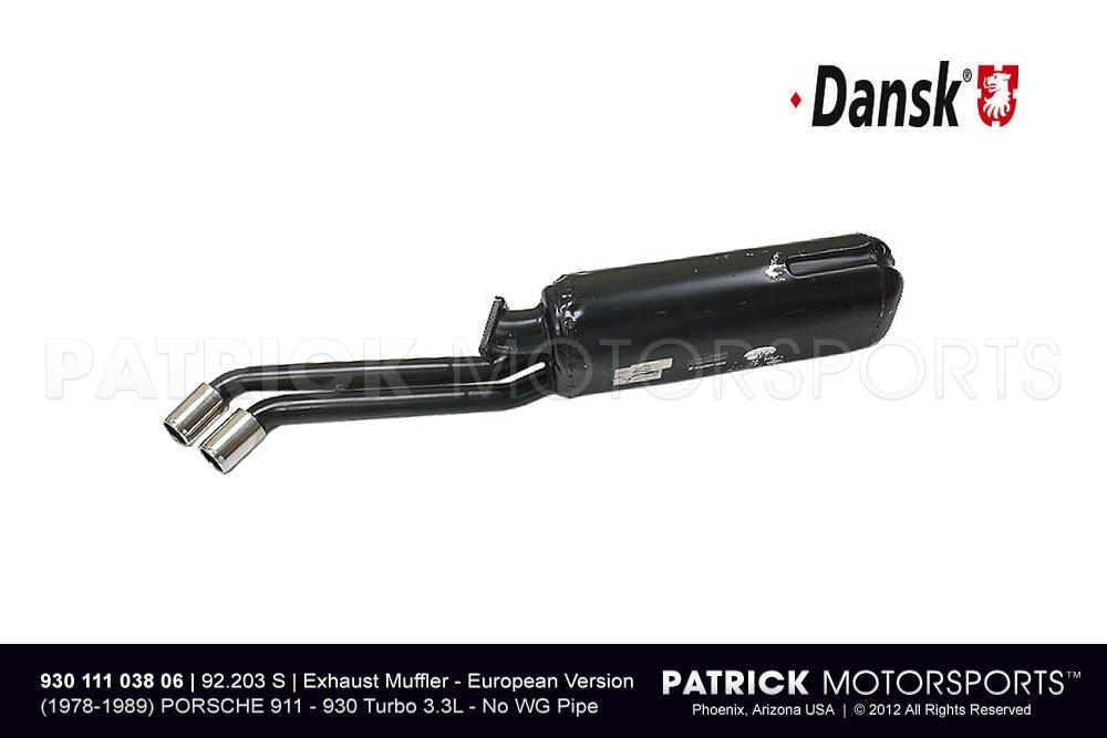 Exhaust Muffler PORSCHE 911 - 930 Turbo - European Version