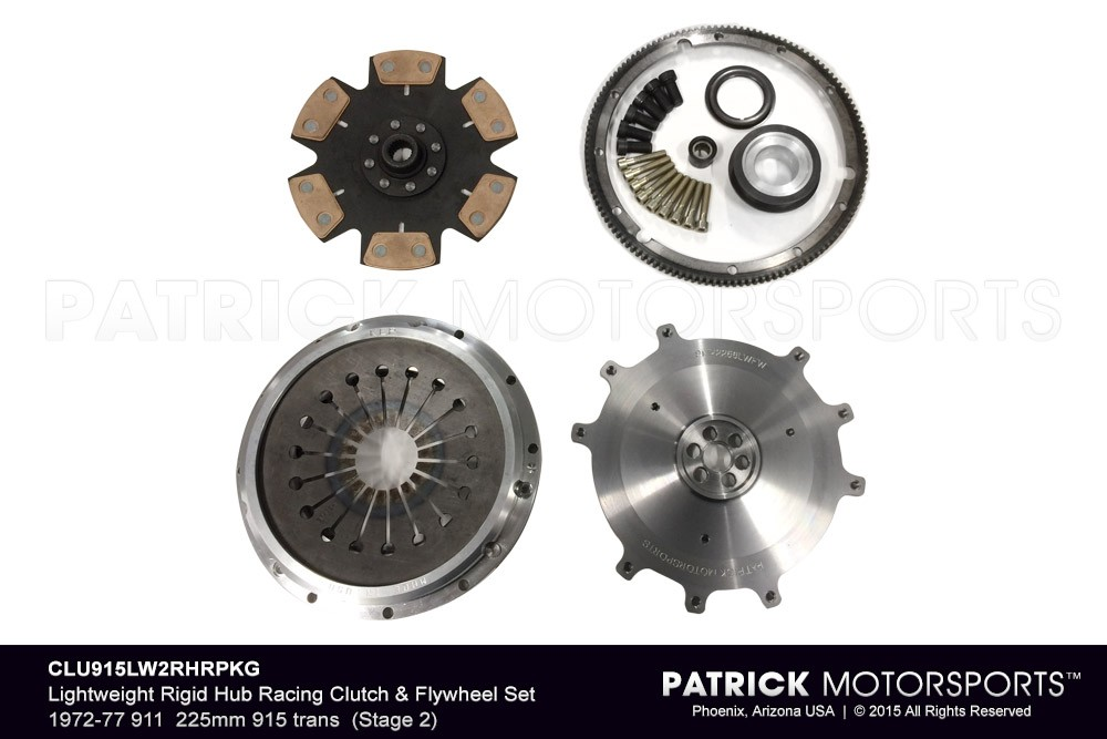 Lightweight Rigid Hub Racing (Stage 2) Clutch & Flywheel PKG 1972-1977 911