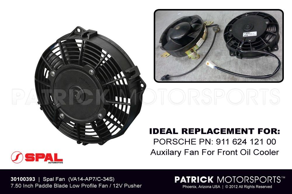 911 porsche electrical equipment parts by patrick motorsports spal electric fan 7 50 inch low profile pusher