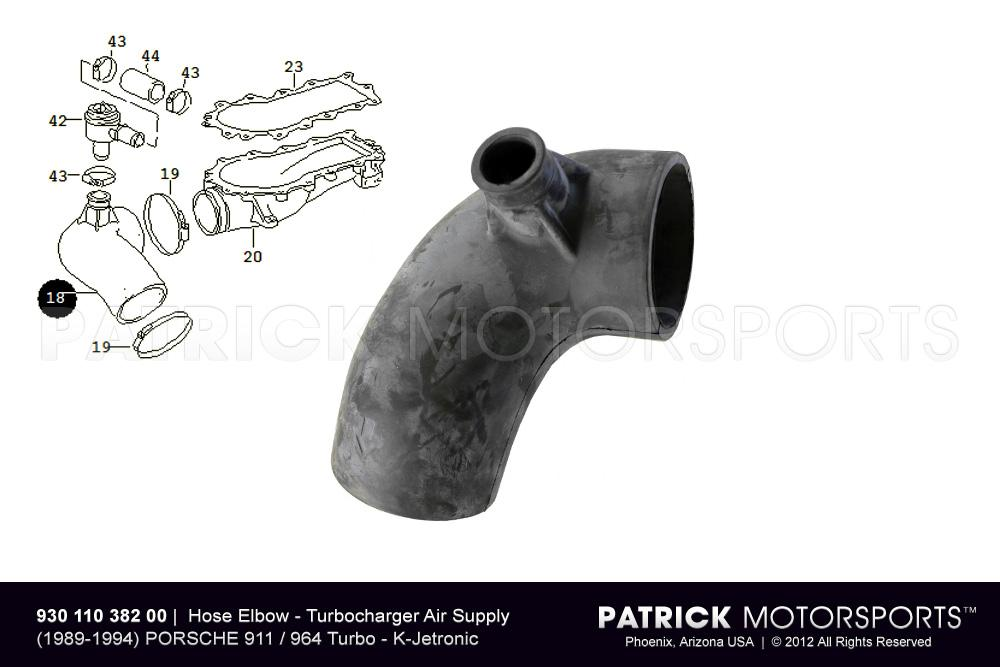 Hose Elbow - (1989-1994) PORSCHE 911 Turbo - Turbocharger Air Supply