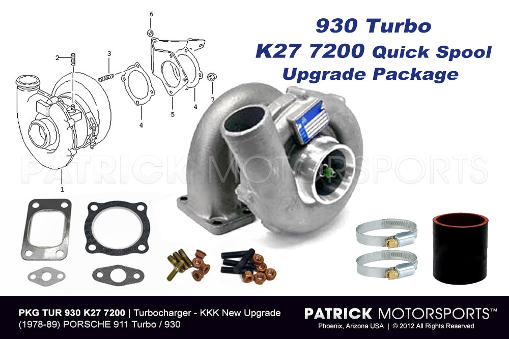 Turbocharger Upgrade Package for (1978-1989) PORSCHE 930 Turbo
