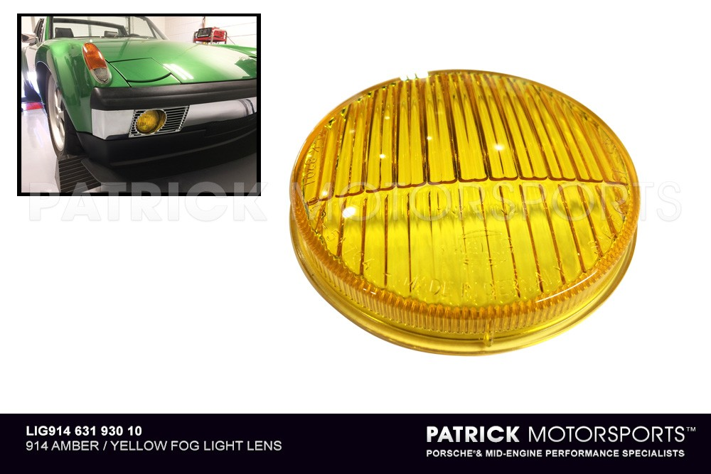 914 AMBER / YELLOW FOG LIGHT LENS