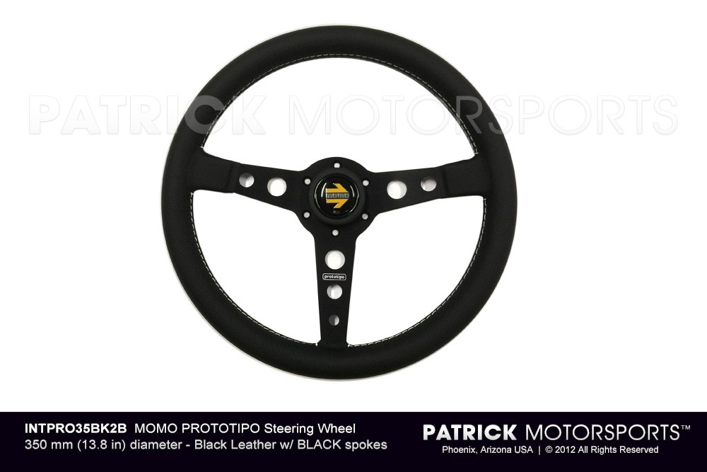 MOMO PROTOTIPO STEERING WHEEL - BLACK