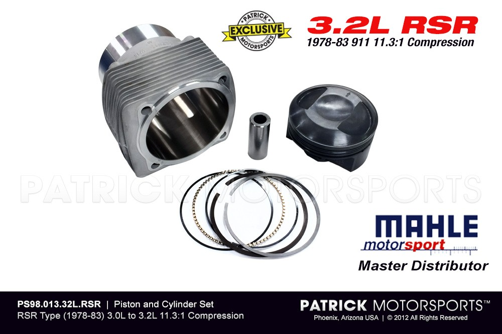MAHLE PISTON & CYLINDER SET - 911 RSR Type 3.0L to 3.2L High Comp NA 11.3:1