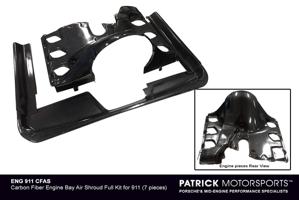 911 Engine Bay Carbon Fiber Air Shroud Full Kit