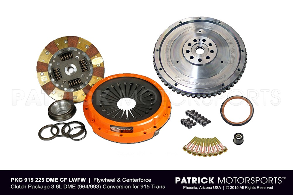 Lightweight Flywheel & Centerforce Clutch Package 3.6L DME (964/993) Conversion for 915 Trans