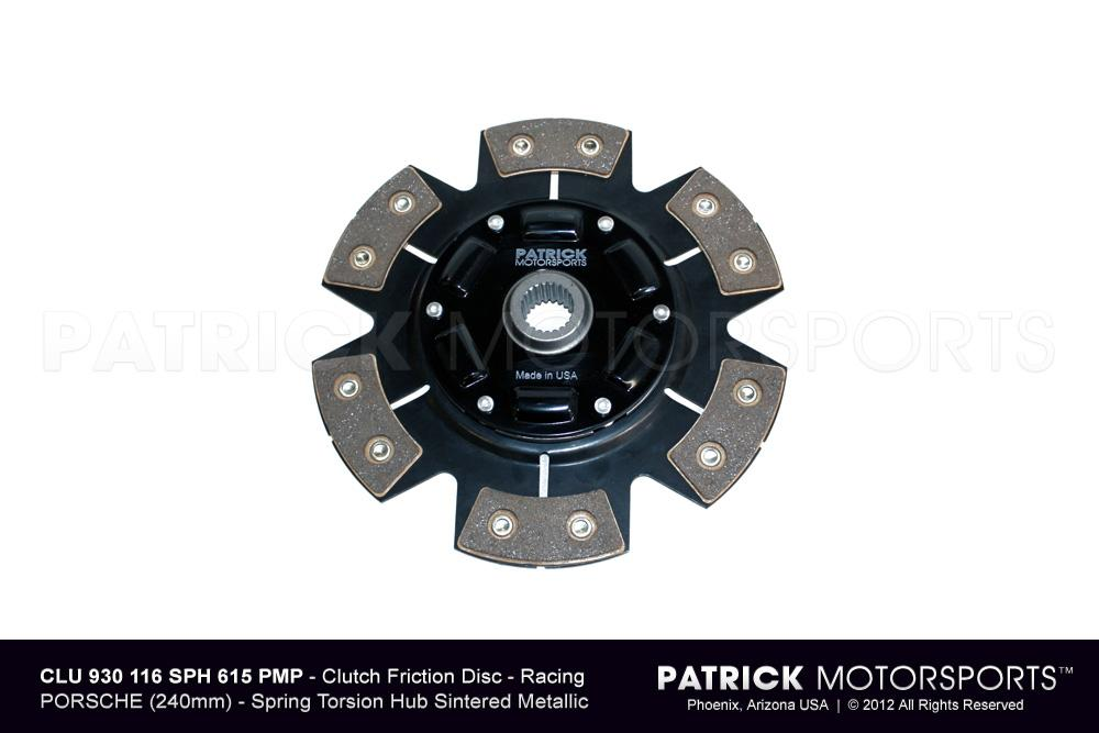 Clutch Friction Disc - 240mm Racing - Sintered Ceramic 6 Pad Button - Spring Torsion Hub