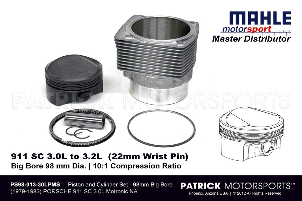Piston and Cylinder Set - 911 SC 3.0 CIS to 3.2 Liter Mahle Motorsports