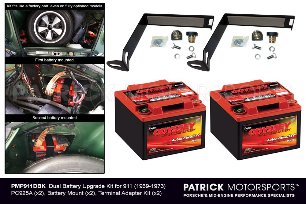 Odyssey Dual Battery Upgrade Kit for 911 (1969-1973)