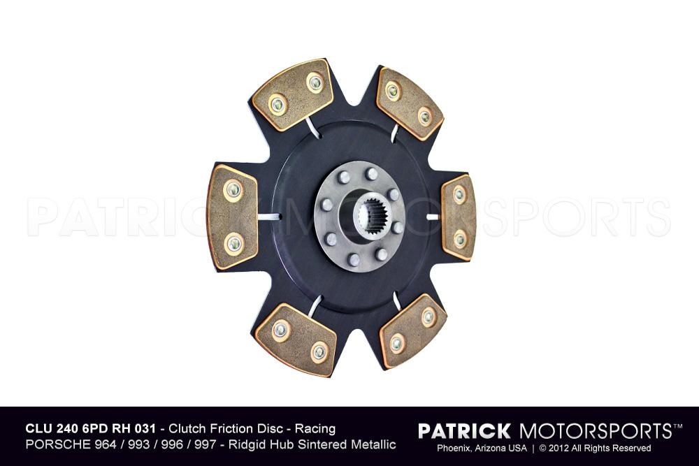 Clutch Disc - Race (Rigid Hub) with 6 Pad Metallic Puck Disc RSR Cup